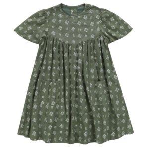 green floral smock dress