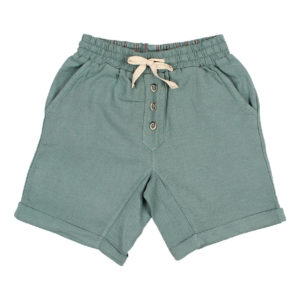 Organic green cotton shorts