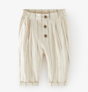 off-white pinstripe trousers