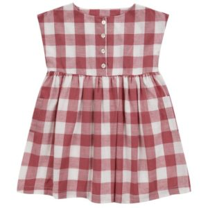 red gingham cotton dress
