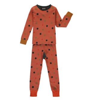 Rust polka dot pyjamas