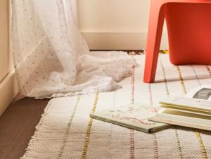 Kids striped cotton rug
