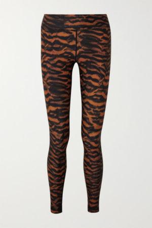 Tiger print workout leggings