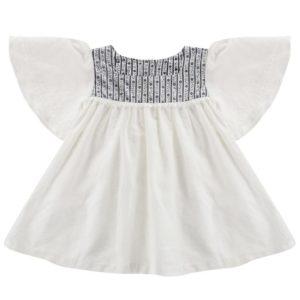 Off-white cotton linen blouse