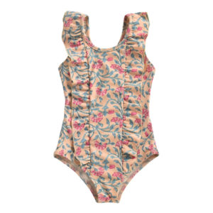 Floral ruffle baby swimsuit