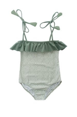 Sage green frill swimsuit
