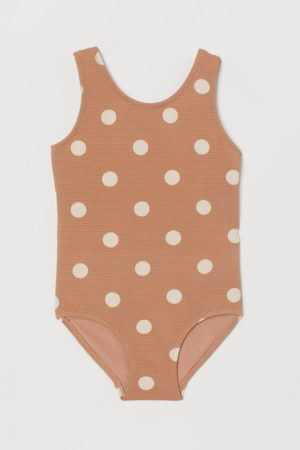 Textured spotty swimsuit