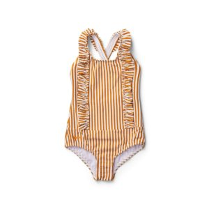 Mustard stripe swimsuit