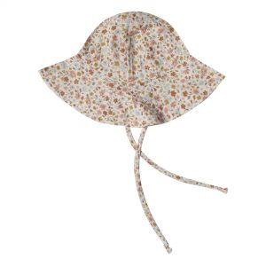 Floral floppy baby sun hat