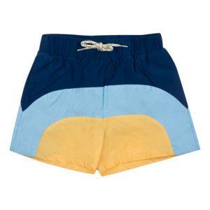 Navy retro swim shorts