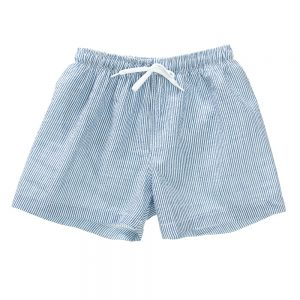 Boys blue and white seersucker swim shorts