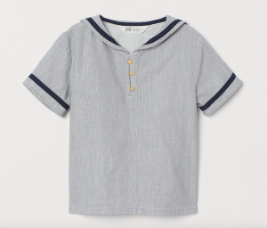 Boys cotton sailor top