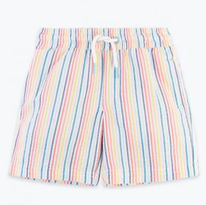 Rainbow seersucker swim shorts