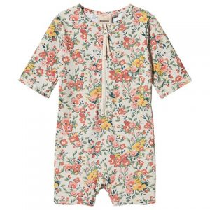 Floral retro baby swimsuit
