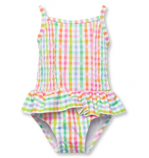 Gungham frill swimsuit
