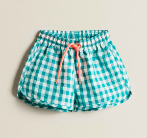 Gingham swim shorts