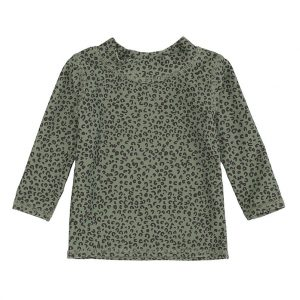 Leopard print UV swim top