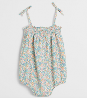 Floral baby swimsuit