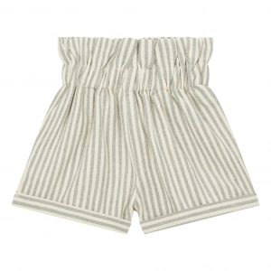 Striped cotton shorts