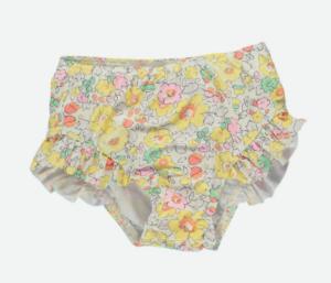 Yellow Liberty print swim pants