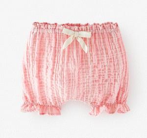 Pink baby bloomer shorts