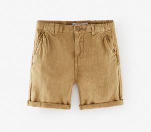 Camel linen bermuda shorts
