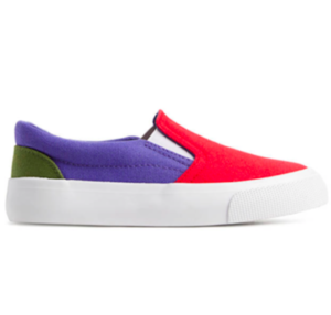 Colour block slip on trainers