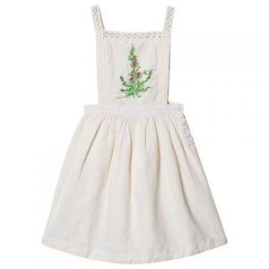 Cream embroidered dress