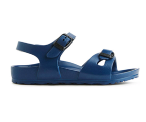 Blue kids Birkenstock sandals