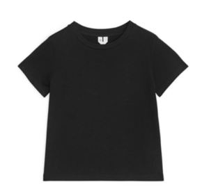Kids black crew neck t-shirt