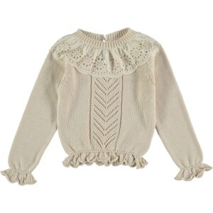 Cream lace jumper