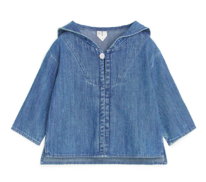 Baby denim sailor top