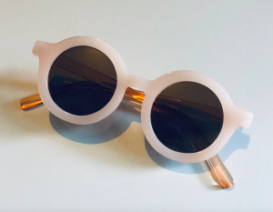 Blush round kids sunglasses