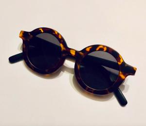 Kids round tortoiseshell sunglasses
