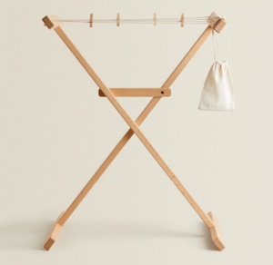 Kids wooden clothes horse