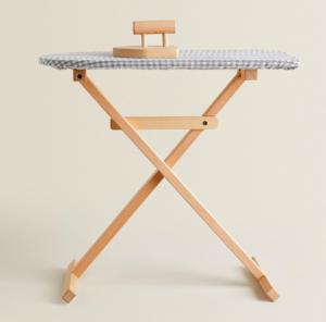 Kids wooden ironing board set