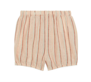 Linen baby bloomer shorts