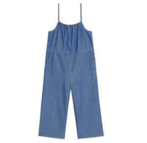 Organic cotton denim jumpsuit