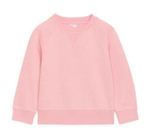 Pink crew-neck sweatshirt