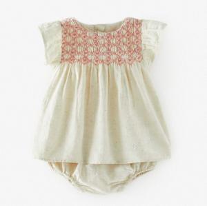 Rustic baby dress