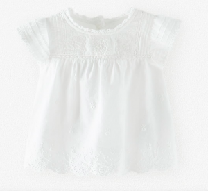 White embroidered romantic baby blouse