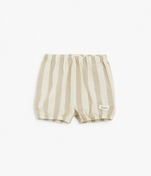 Baby linen striped bloomer shorts