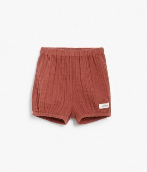 Baby red textured bloomers