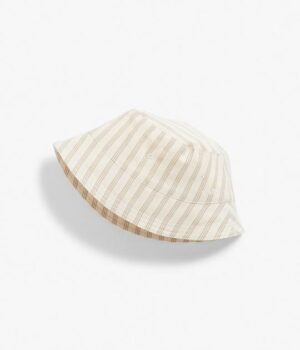 Baby striped linen sun hat