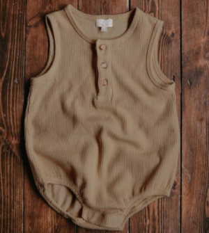 Brown baby vest