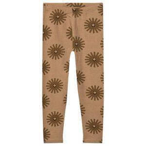 Brown sunshine print leggings