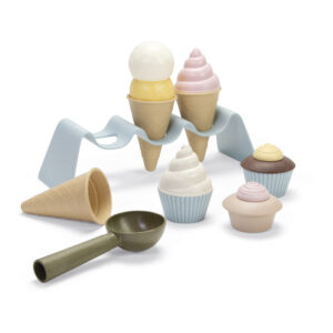 Sustainable kids ice cream set