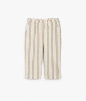 Kids linen stripe trousers