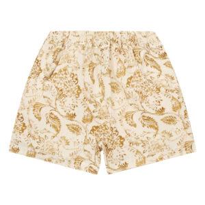 Mustard floral shorts