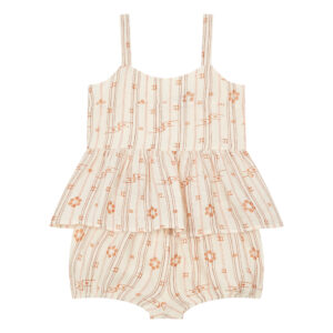 Pale pink top and shorts set